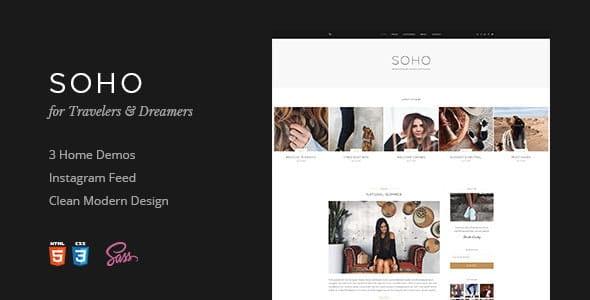 Soho - Blog Template For Travelers & Dreamers