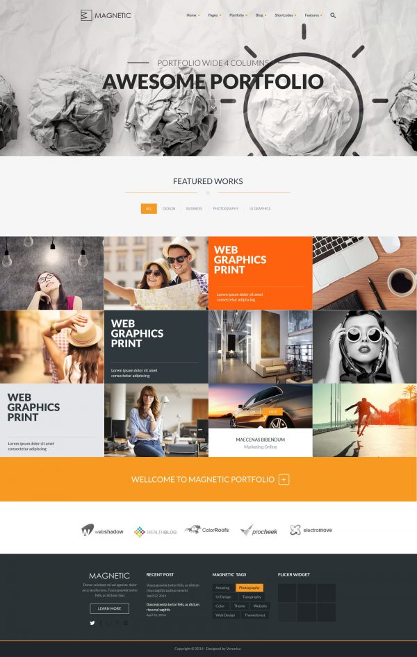 Magnetic – Photography Website Template