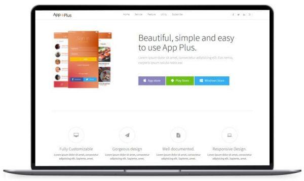 App Plus - App Landing Page