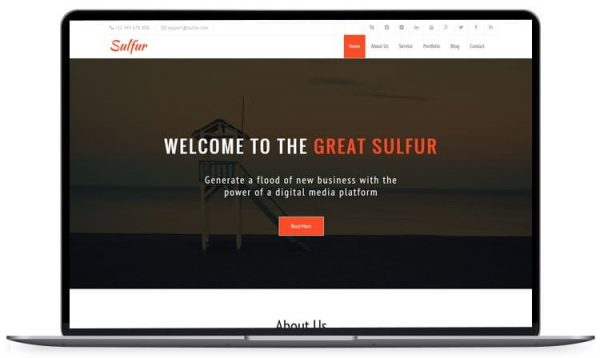 Sulfur – Simple Html Template