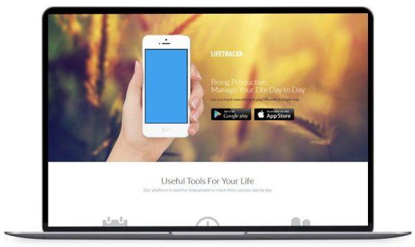 Lifetrakr - Stars App Landing Page