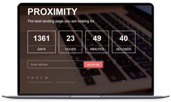 Proximity - Best Bootstrap Under Construction Website Template