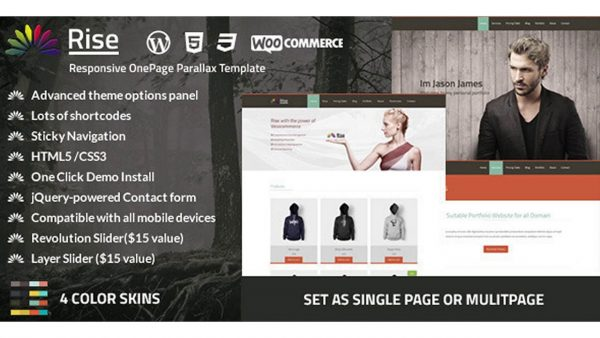Responsive OnePage Parallax Template