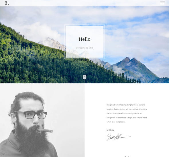 Bodo – Responsive HTML Personal Template