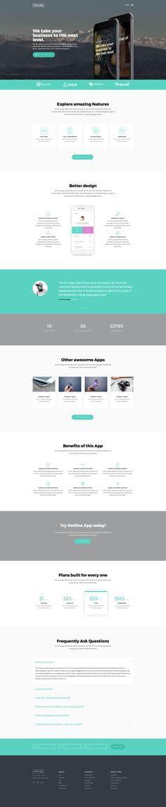 Outline - Bootstrap App Landing Template