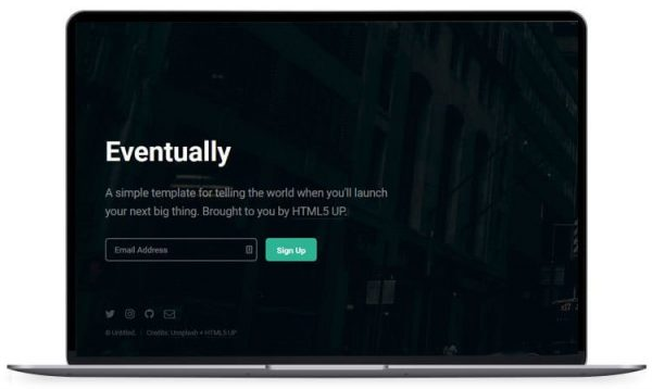 Eventually - Coming Soon Website Template