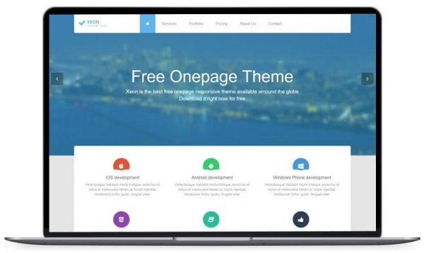 Xeon - Best Onepage Site Template