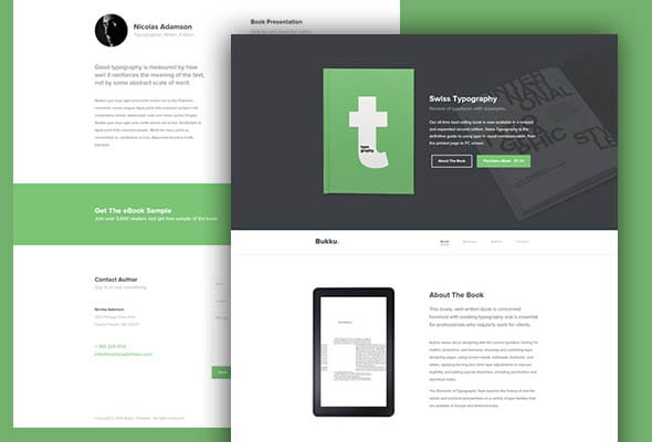 Bukku – HTML/CSS Book/eBook Template