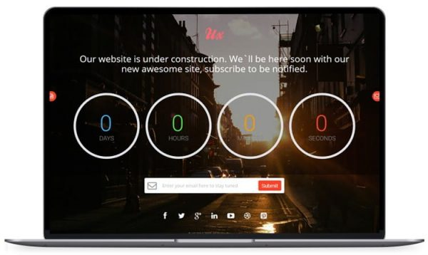 UX - Responsive Coming Soon Countdown Template
