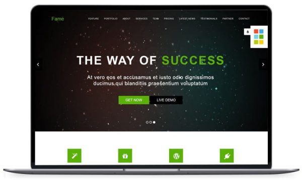 Fame - One page multipurpose Business Template