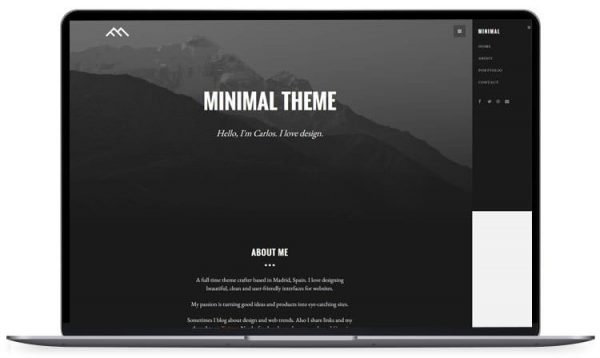 Minimal – Bootstrap 3 HTML5 Template