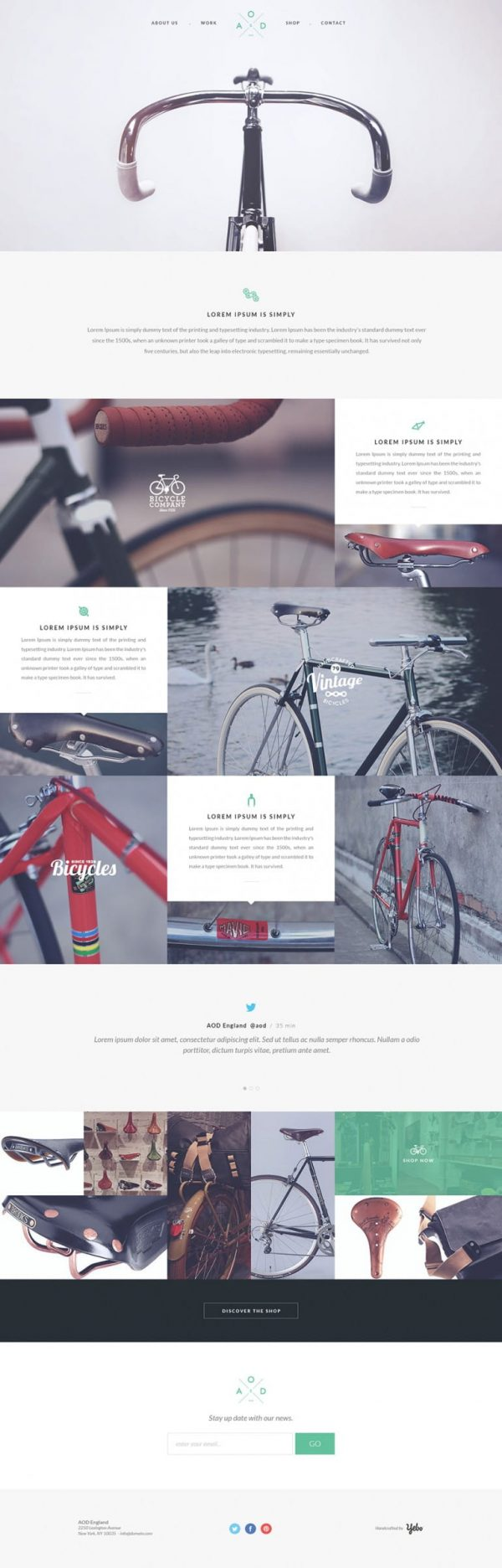 Yebo – Flat HTML CSS Corporate Template