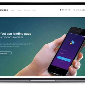 Small Apps – Mobile App Landing Page Template