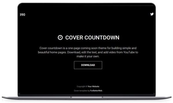 Cover Countdown - Under Construction Website Template