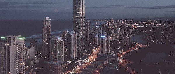 Skyscraper City Skyline Cityscape Background (Turbo Premium Space)