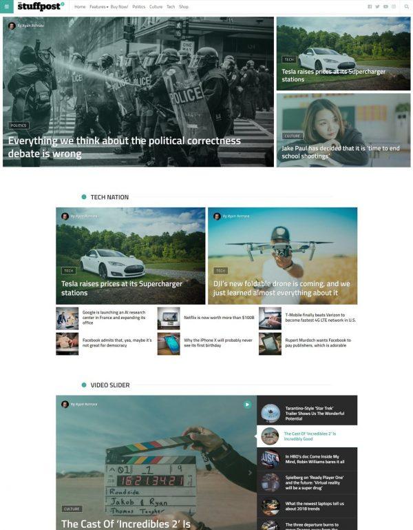 StuffPost - Professional News & Magazine WordPress