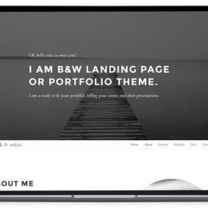 Black & White - Personal Portfolio PHP Script