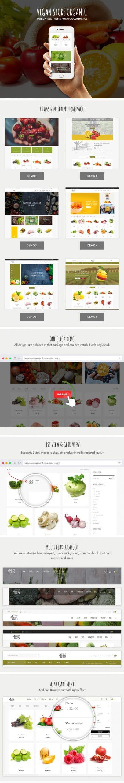 Vegan - Organic Store WooCommerce WordPress Theme