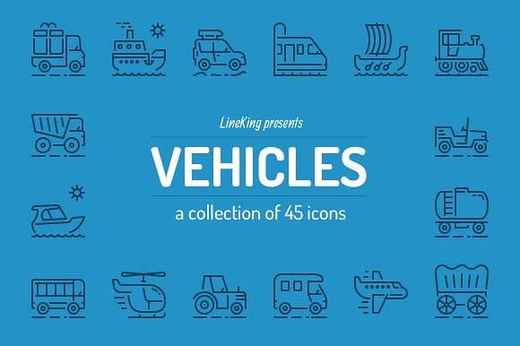 Vehicles Line Icons