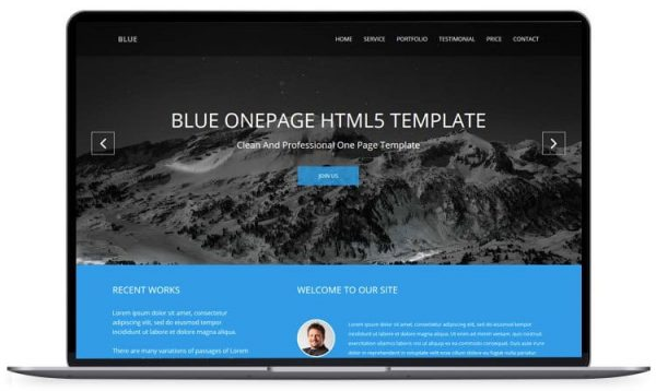 Blue – Onepage Responsive Corporate Template