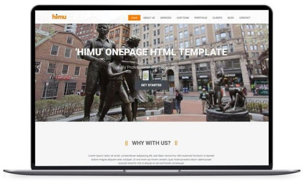 Himu - Responsive Bootstrap Template