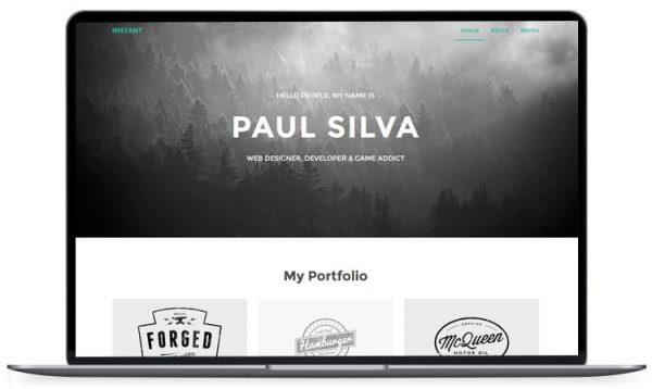 Instant – Personal Portfolio HTML5 Template