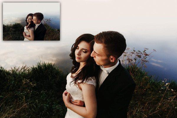 Gold Film Toned Wedding Presets