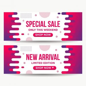 Abstract Banner Special Sale Modern Background