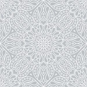 Abstract Ethnic Floral Seamless Pattern