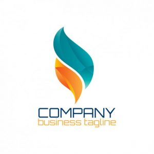 Abstract logo in flame shape