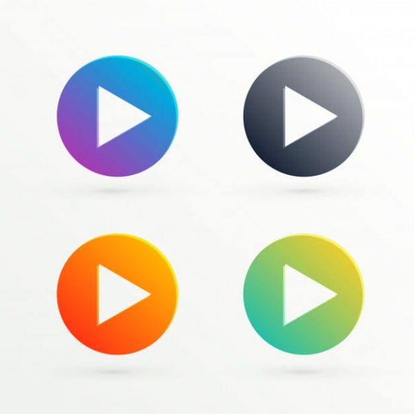 Abstract play icon in different