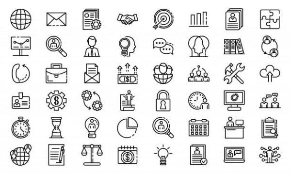 Administrator icons set (Turbo Premium Space)