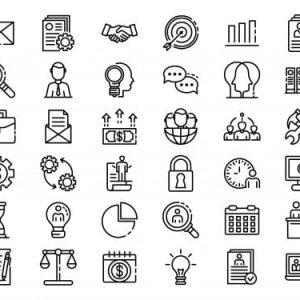 Administrator icons set