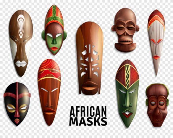 African masks transparent (Turbo Premium Space)