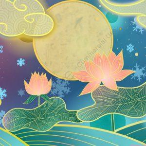 Ambilight Series Chinese Style Traditional Lotus Illustration Illustration