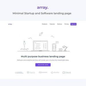 Array Minimal Landing Page Template