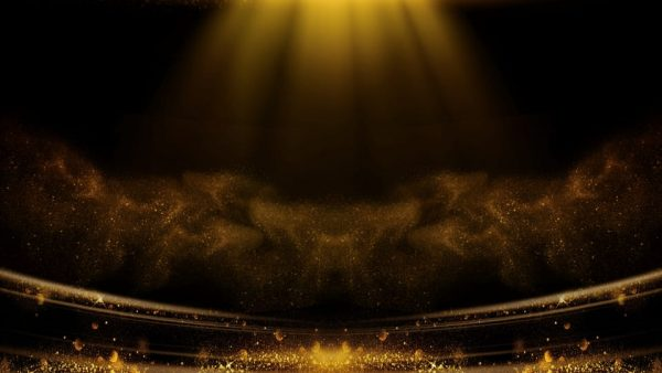 Award Ceremony Black Gold Style Background Material (Turbo Premium Space)