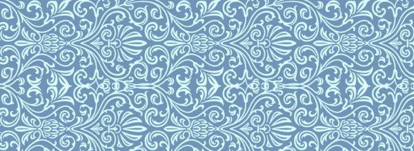 Background Vintage Pattern Blue Pattern Background