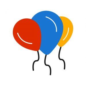 Baloons Icon Creative Design Template
