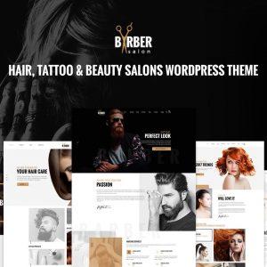 Barber - Hair, Tattoo & Beauty Salons WP Theme