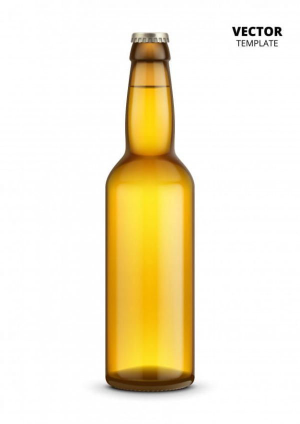 Beer bottle glass mockup (Turbo Premium Space)