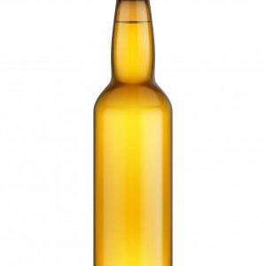 Beer bottle glass mockup