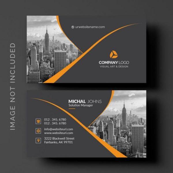 Black Business Card (Turbo Premium Space)