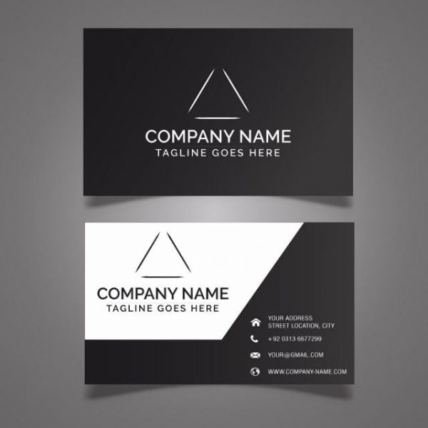 Black Business Card Template (Turbo Premium Space)