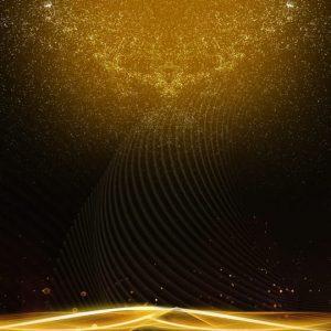 Black Gold Background Golden Streamer Commendation Assembly