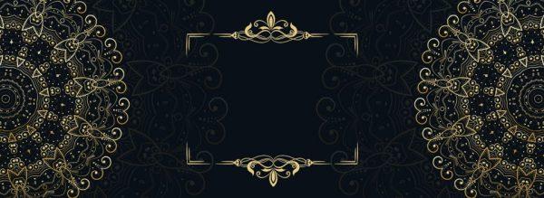 Black Gold Wedding Invitation Card Europe And America (Turbo Premium Space)