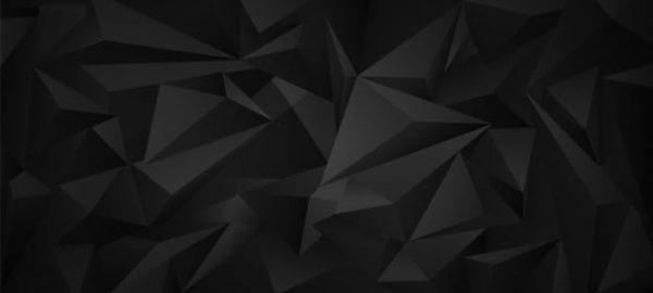 Black dark 3d low poly (Turbo Premium Space)