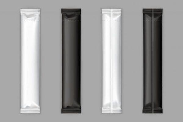 Black, white sugar sachet stick (Turbo Premium Space)