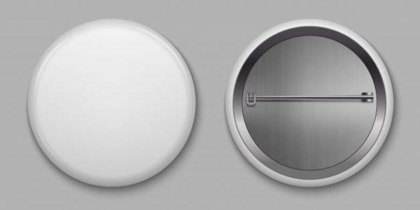 Blank white glossy badge (Turbo Premium Space)
