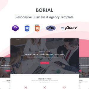 Borial - Bootstrap 4 Business & Agency Template